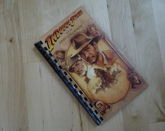 Handmade Indiana Jones and the Last Crusade 1989 Movie Re-purposed VHS Cover Notebook Journal