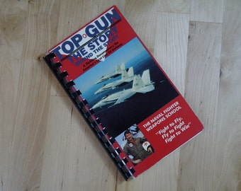 Handmade Top Gun the Story Behind the Story 1987 Movie Re-purposed VHS Cover Notebook Journal