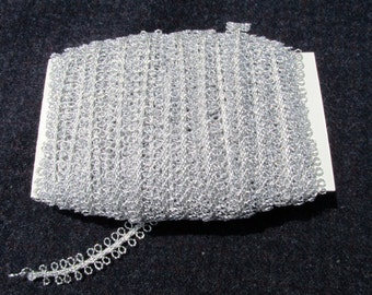 Silver Loop Trim - 22 yards