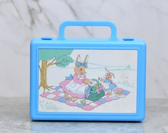 Vintage Bunny Tales, Lunch Box, RARE, 1990, MY BOX, Beachwood Ltd, Picnic, Bunnies, Collectible, Children, Toy, winterparkcollect, China