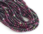 """Multi Colored Agate Beads, Greens, Browns, Rose  - 6mm Round Beads - 15"""" Strand"""