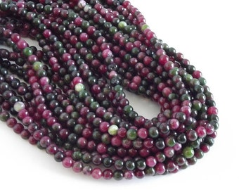 "Multi Colored Agate Beads, Greens, Browns, Rose  - 6mm Round Beads - 15"" Strand"
