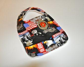 Baby bib, US Marines baby bib, Marine Corps Baby bib,USMC baby bib,New Grandpa bib,Baby gift for new grandpa,Marine Dad,Marine Corps Grandpa