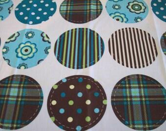 DIY YoYo/Rosette Multi Prints 100% Cotton Fabric Panel - Set of 2