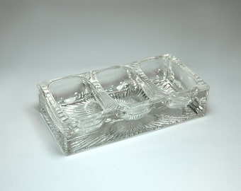 Vintage Salt Cellar Pressed Glass