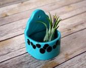 RESERVED for KELSEY - Air plant holder, Air plant planter.  Tiny planter for desktop or wall!  Handmade ceramic planter