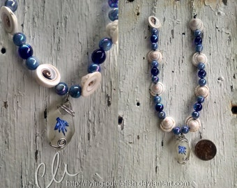 Blue Sea Slug Necklace