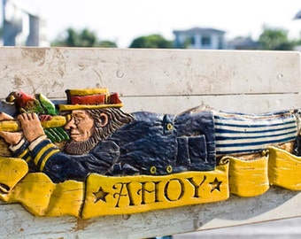 Ahoy Sailor Nautical Decor Plaque and Door Topper