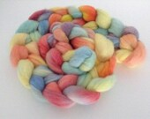 Hand Dyed Polwarth Roving Spinning Top 100g