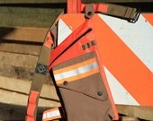 High Visiblity Orange and Olive Reflector Leg Bag with Utility Belt and Reversible Leg Strap