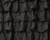 """Black 2 Inch Ruffle Fabric by the Yard Up to 1/2 Yard Left  - 18"""" Remnant"""