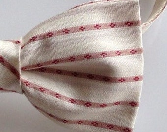 Vintage  fabric bow tie, Men's  bow tie, stripped bowtie