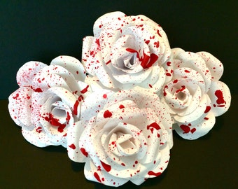 Splatter Paper Roses (4)