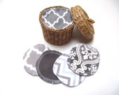 Reusable Facial Rounds, 20 GREY Mix Cosmetic Rounds, Makeup Remover Pads, Eco-Friendly Face Scrubbies