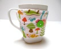 Reusable Coffee Cozy, Coffee Sleeve, Reusable Fabric Coffee Cozy, Eco-Friendly Teacher Co-Worker Gift, Coffee Lover, Woodland Animals Cozy