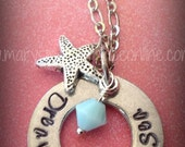 Dreaming of the Sea Hand Stamped Necklace