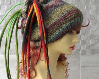PROMOTION -  Seamless  Knit Hat - Dreads Hat Dreadlock Hat Slouchy Beanie Tube Hat - Dreadlock Headband Head - Colorful   Hat For Dreads
