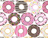 RESERVED Listing for KAYLA-Maude Asbury - Lolly - Doughnut Love - White (101.122.01.2) Blend Fabrics - 1.5 yd
