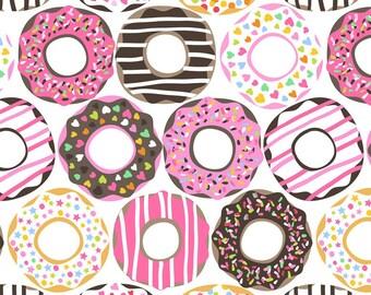 Maude Asbury - Lolly - Doughnut Love - White (101.122.01.2) Blend Fabrics - 1 yard