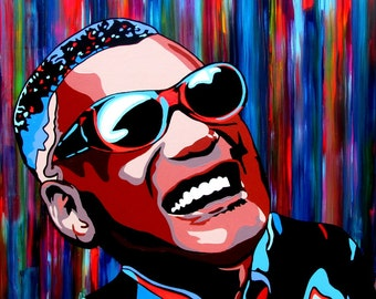 "Ray Charles 24""X24"" Canvas Print"