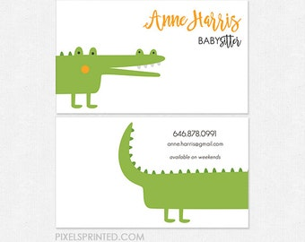 babysitter DELUXE business cards - thick, color both sides - FREE UPS ground shipping