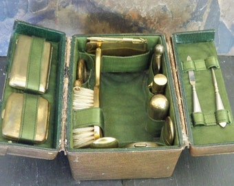 Antique Victorian Miniature Travelling Vanity Case