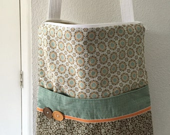 Large Tote Bag Made With Stampin' Up Fabric-FREE US SHIPPING