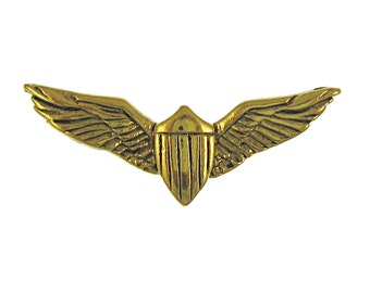 Gold Pilot Wings Lapel Pin-CC497G
