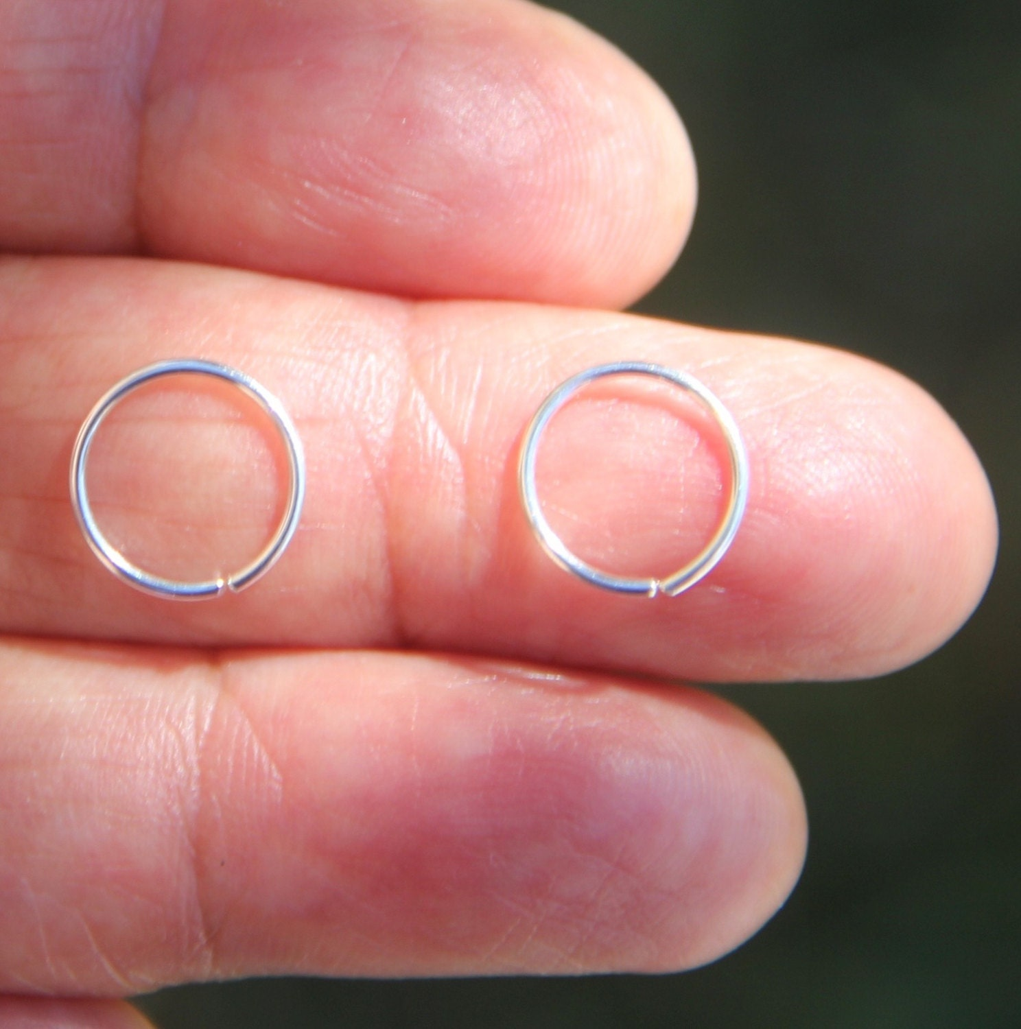 two 22g nose rings 925 sterling silver nose ring
