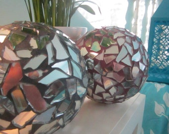 "Mosaic Mirrored Garden / Indoor Decorative ""Gazing Balls """