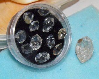 11 Beautiful 10mm Herkimer Diamond Crystals