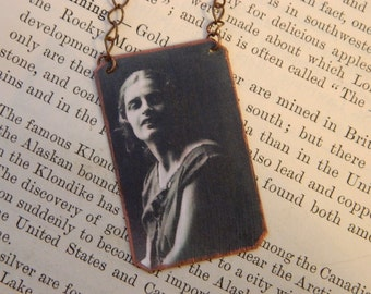 Ayn Rand necklace mixed media jewelry