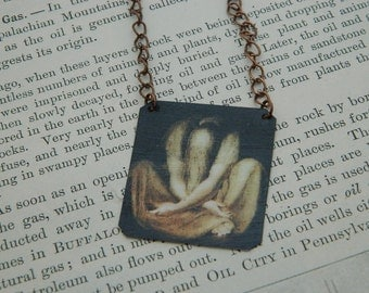 Art necklace Henri Fuseli Silence mixed media jewelry art jewelry art necklace