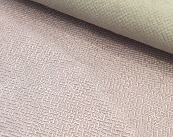 Pink Textured Metallic Embossed Leather