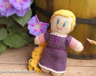 Princess Doll Rapunzel, Tangled Ready To Ship Disney Toy Inspired Natural Materials Baby Toy
