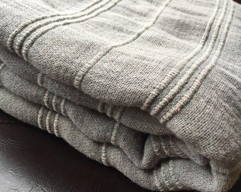Turkish Towel Peshtemal towel Cotton Peshtemal Stone washed Grey Towel Soft, genuine handloomed