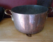 Victorian Copper Stock, Soup Pot, Superb, Professional Quality, Neuilly, Paris, Stamp Heavyweight.