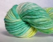 "Variegated yarn, handpainted chunky merino blend in ""Summer in a Bottle"""