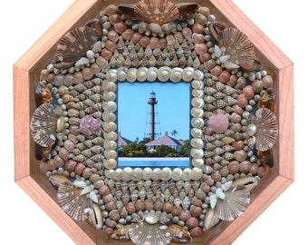 "Nantucket Sailor's Valentine Seashell Mosaic Design ""Island Memories Sanibel"""