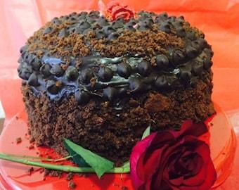 Vegan   Double dark chocolate mint  cake 8'' !