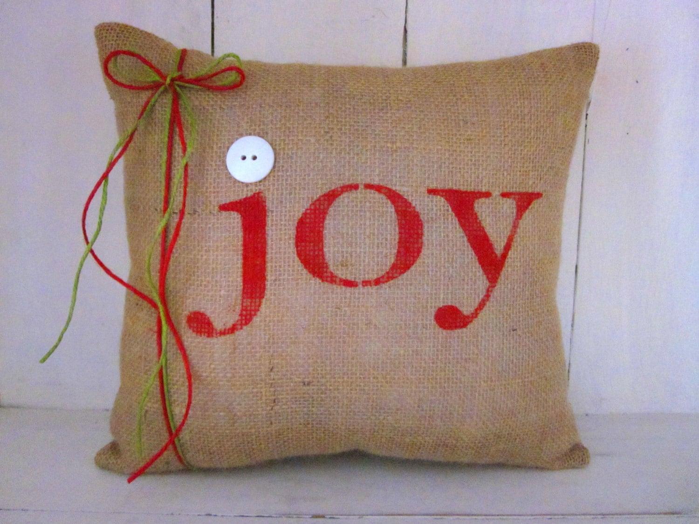 Joy Christmas Throw Pillows : Joy pillow Christmas pillow holiday decor decorative