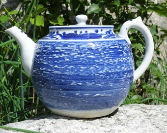 Asian Blue and White Teapot