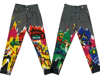 Reserved GIANNI VERSACE Iconic Graffiti Print Jeans