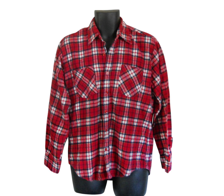 Lumbersexual Men Flannel Shirt Red Flannel Shirt Grunge