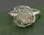 Moonstone Nest Ring in Sterling Silver