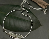 Moonstone and Kyanite Floating Leaf Statement Necklace