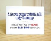 Baby Bump - Father's Day / New Dad, Pregnancy / Birth / Baby Announcement / Anniversary / Valentine's Day