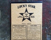 Vintage Lucky Star Writing Tablet