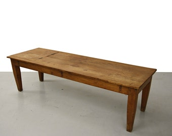 Primitive Antique Massage Table or Industrial Coffee Table