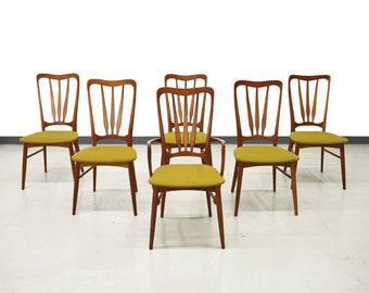 Set of Six Mid Century Danish Teak Dining Chairs by Koefoeds Hornslet